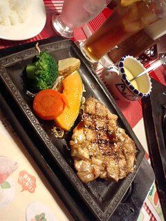 炭焼き鶏ステーキ